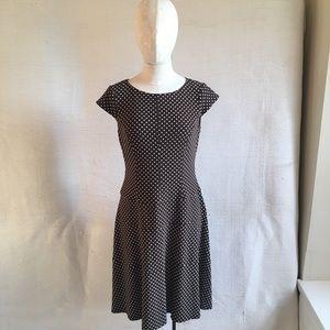 Vintage Dresses - Vintage Anne Klein Polka Dots Midi Lady Day Dress